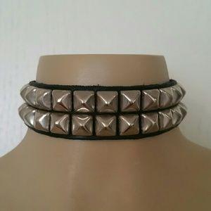 Jewelry - Vintage Leather students punk rock colar choker